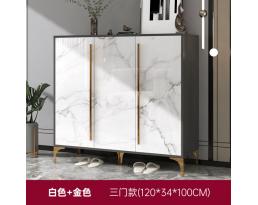 (Pre-order) Shoe Cabinet 706 120cm - White Gold