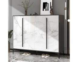 (Pre-order) Shoe Cabinet 706 140cm - White Black