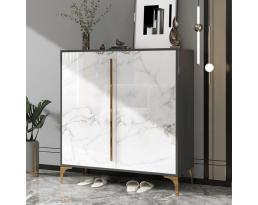 (Pre-order) Shoe Cabinet 706 80cm - White Gold