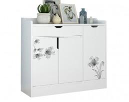 Shoe Cabinet Type E A1677 No Legs - White