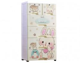 Storage Cabinet Type E - White (4-6 Tier)