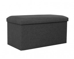 Storage Stool Type A (Rectangular) Fabric- Black