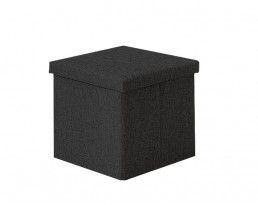 Storage Stool Type A (Square) Fabric - Black