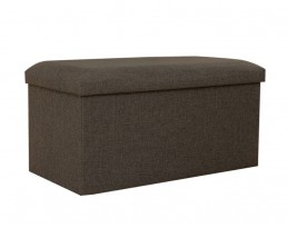Storage Stool Type A (Rectangular) Fabric - Brown