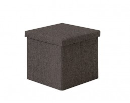 Storage Stool Type A (Square) Fabric - Brown