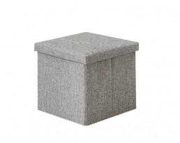 Storage Stool Type A (Square) Fabric - Grey