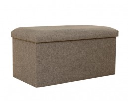Storage Stool Type A (Rectangular) Fabric - Light Brown