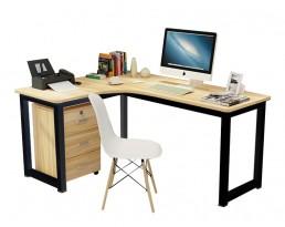 Study Table 546 Left Side - Black Leg