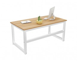 Dacey Study Table - Grey Brown with White Leg (100/120/140cm)
