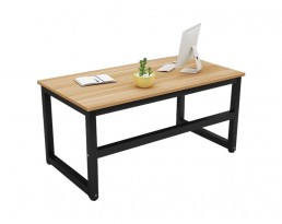 Dacey Study Table - Grey Brown with Black Leg (100/120/140cm)