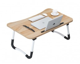 Foldable Laptop Table - Wooden Brown