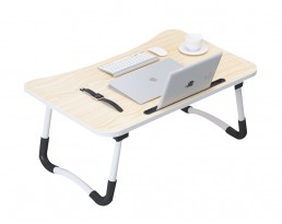 Foldable Laptop Table - Light Wooden