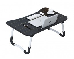 Foldable Laptop Table - Black