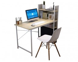 Ada Study Table with Shelf - Grey Brown
