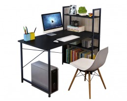 Ada Study Table with Shelf - Black
