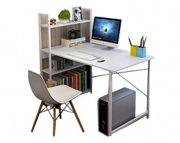 Ada Study Table with Shelf - White