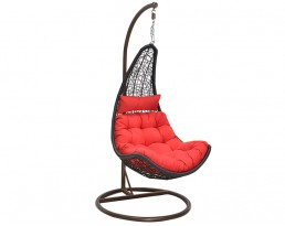 Swing Chair S333 - Black with Brown Stand