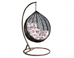 Swing Chair S617 - Black with Brown Stand