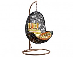 Swing Chair S625 - Black with Brown Stand