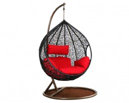 Swing Chair S817 - Black with Brown Stand