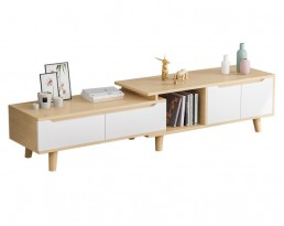 TV Console A10446 (Extendable)  - Wooden Brown