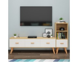 (Pre-order) 3 Drawer TV Console - Light Wooden