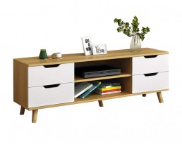 TV Console F15S 120cm - Wooden Brown