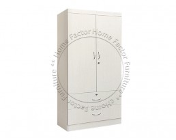 2 Doors Wardrobe - Grey