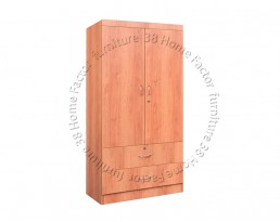 2 Doors Wardrobe - Cherry