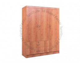 3 Doors Wardrobe - Cherry
