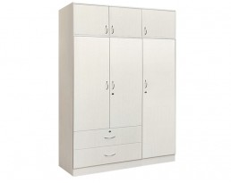 3 Doors Wardrobe + Top - Off White