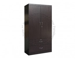2 Doors Wardrobe - Dark Brown