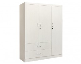 3 Doors Wardrobe - Grey
