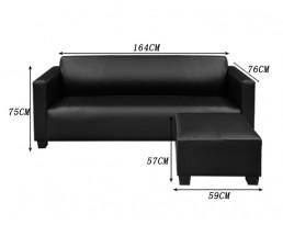 Sofa Type N PU Leather - Black