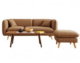 Sofa AS29 (140cm/180cm) - Brown